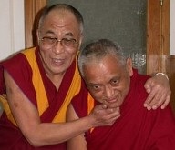 Viņa Svētība Dalai Lama un Lama Zopa Rinpoče