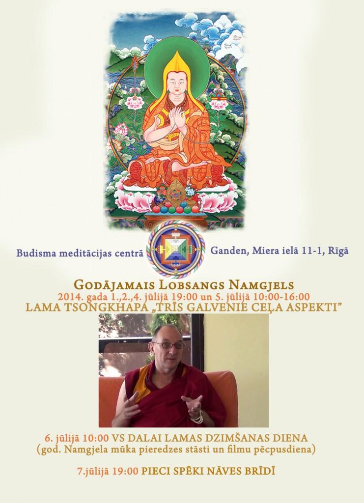 Ven Namgyel 2014 poster