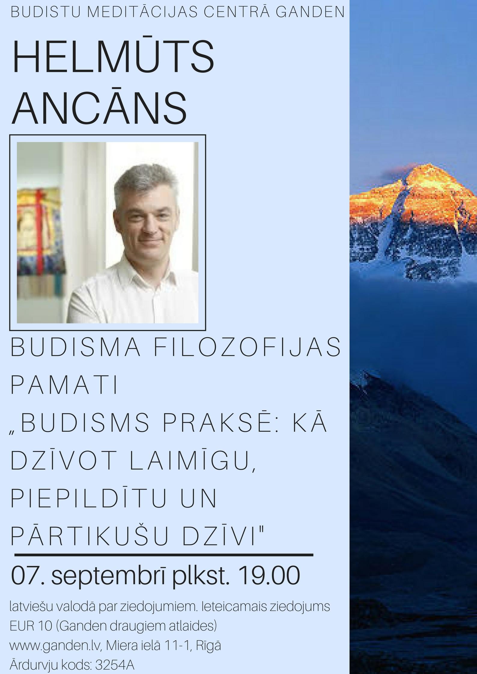 7.09. Helmūts Ancāns Budisma Pamati